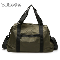 ESHINEDER Sports Gym Bags Oxford Fitness Yoga Bag Travel Waterproof Handbags Women The Shoulder travel Luggage Duffle Gray New