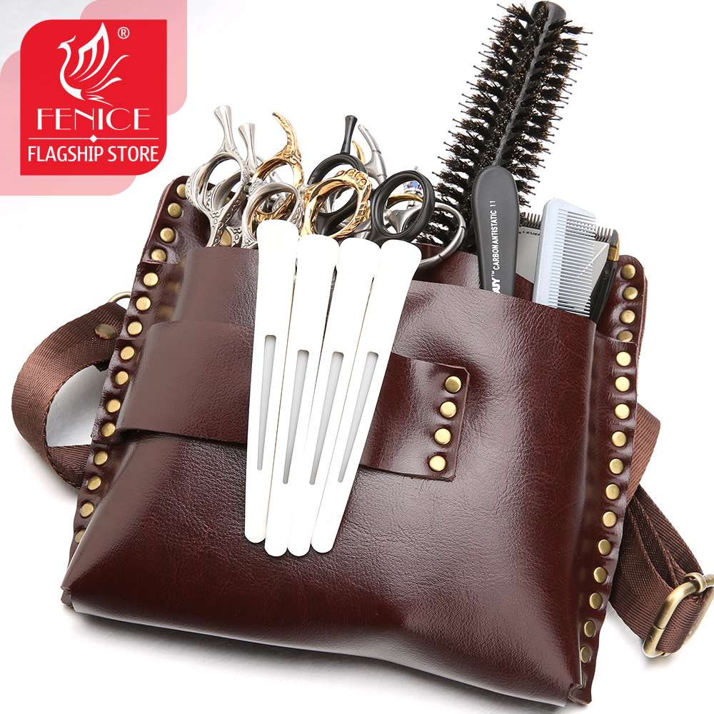 New Arrival Hair Shears Case Salon Scissors Pouch Hairstylist Waist Pack Big Capacity Hold 9 Scissors