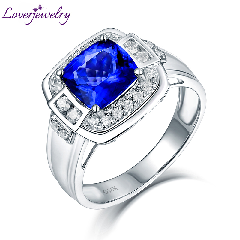 and blue popular octagon wedding rings s mens ring with tanzanite promise silver sapphire round men sterling diamond qdbhjop