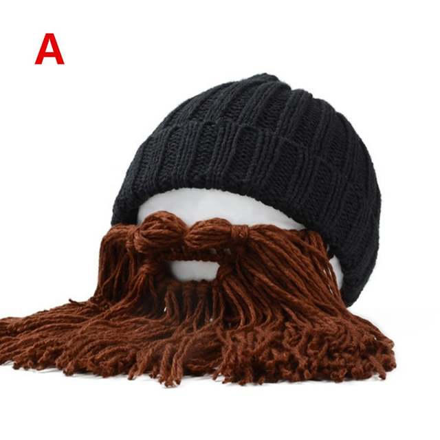 cf8eb2dc580 placeholder Funny handmade winter warm Women men Kids wool mustache knitted  hats pirate face mask wig beard