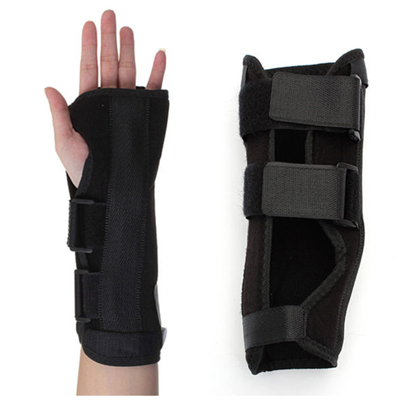 JHO-Black Wrist Brace Support Splint For Carpal Tunnel Arthritis Sport Sprain Pain Left Hand
