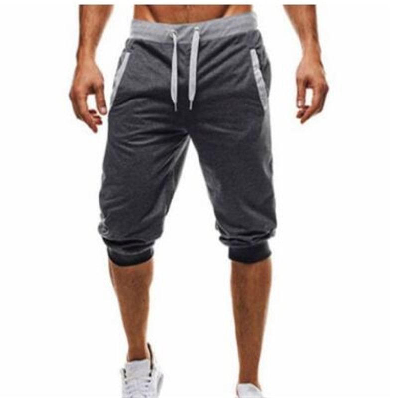 Cotton Men Full Sportswear Pants Casual Elastic Cotton Mens Fitness Workout Pants Skinny Sweatpants Trousers Gyms Jogger Pants in Casual Shorts from Men 39 s Clothing