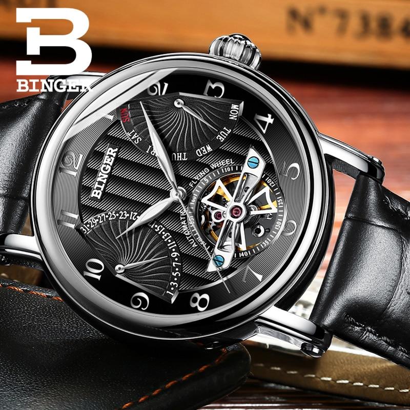สวิตเซอร์แลนด์ BINGER นาฬิกาผู้ชายผู้ชายหรูหรา Tourbillon อัตโนมัตินาฬิกาผู้ชาย Self   Wind Mechanical นาฬิกาข้อมือ reloj-ใน นาฬิกาข้อมือกลไก จาก นาฬิกาข้อมือ บน   3