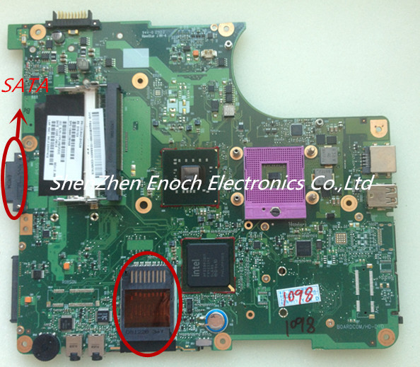 For Toshiba Satellite L300 L305 Laptop Motherboard Integrated V000138460 6050A2170401 MB A03 SATA DVD interface 3months