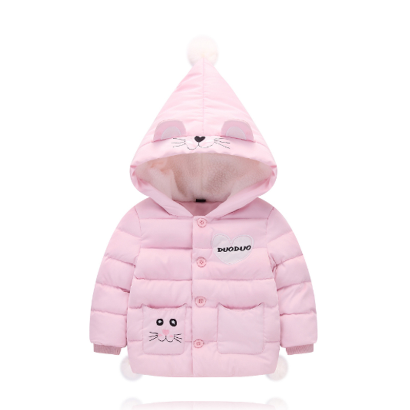 2017 Fashion Winter Girls Clothing Down & Parkas Solid Cotton Zipper Hooded Kids Boys Jacket Children Outwear Coats Tops 3dp012 2016 winter thin down jacket fashion girls boys cotton hooded coat children s jacket outwear kids casual striped outwear 16a12
