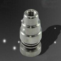 10 unid pura ajustable Domeless titanio Nail Ti 14 mm / 18 mm Male & Female grado 2 el humo del cigarrillo pipa