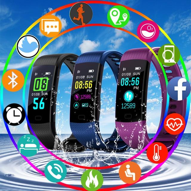 BANGWEINew Women Men Smart Watch Waterproof Sport Digital Watch Blutooth Blood P