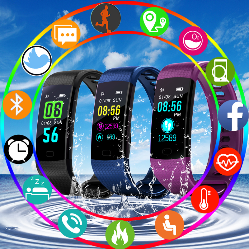 New Women Men Smart Bracelet Waterproof Sport Digital Watch Blutooth Blood Pressure Heart Rate Sleep Monitor For Android iOS цена и фото