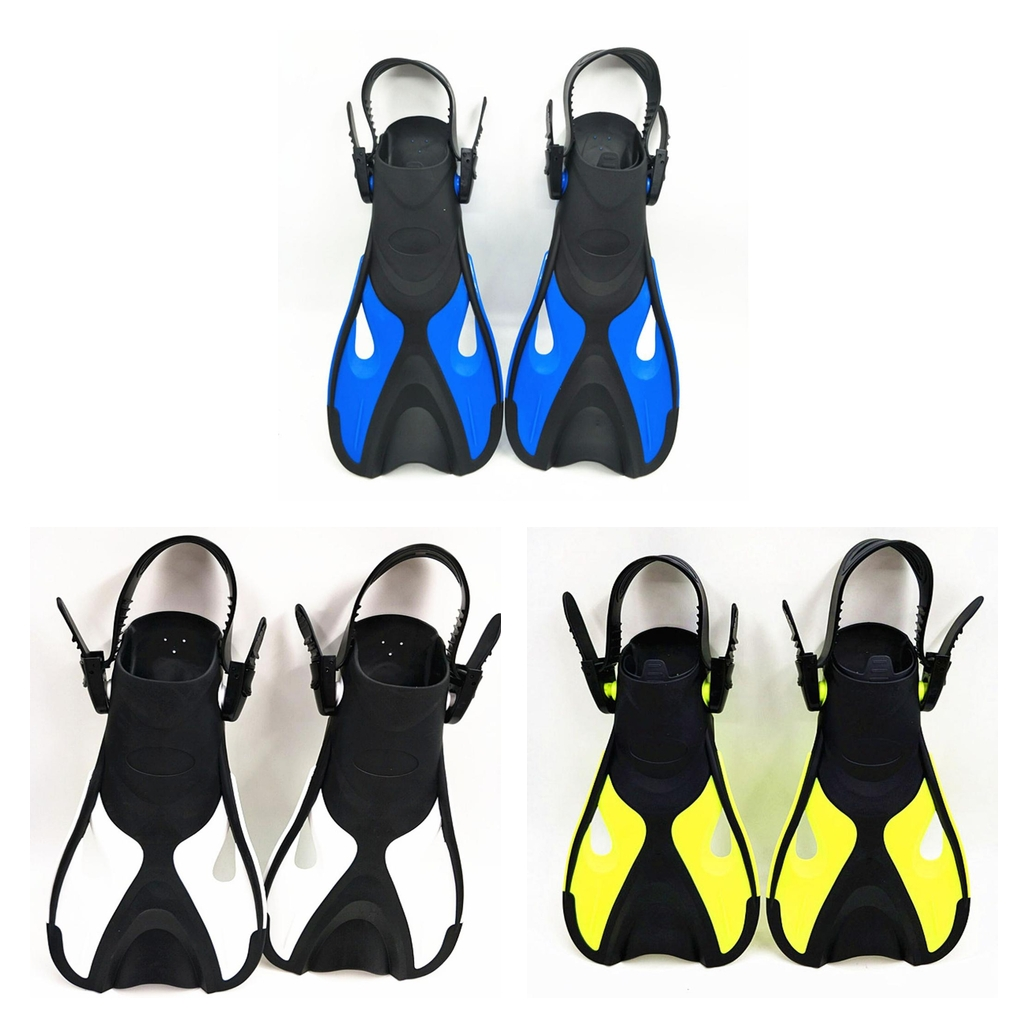 Premium Scuba Diving Fins Open Heel Adjustable Scuba Diving Fins Flippers Snorkeling Swimming Water Sports Tool For Kids Child