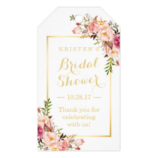 2x35inch bridal shower thank you elegant chic flowers gift tags in cards invitations from home garden on aliexpresscom alibaba group