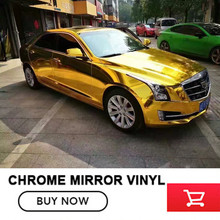 OPLARE gold 1.52x20m stretchble chrome mirror Vinyl wrap chrome car wrap flexible Full union Vehicle covering free shipping