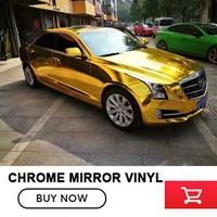 OPLARE Gold 1 52x20m Stretchble Chrome Mirror Vinyl Wrap Chrome Car Wrap Flexible Full Union Vehicle