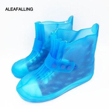 Aleafalling противоскользящие износостойкие Пластик дождь загрузки Красочные Сгустите Rainboot складной Портативный водонепроницаемая обувь ...