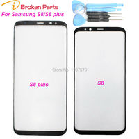 New Black Original S8 Plus Replacement Front Outer Screen Glass Lens For Samsung S8 Touch Screen