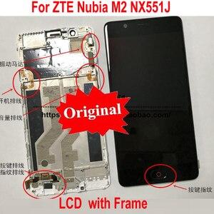 "Image 2 - Best Original Working LCD Display Touch Screen Digitizer Assembly Sensor + Frame For 5.5"" ZTE Nubia N2 NX575J MT6750 / M2 NX551J"