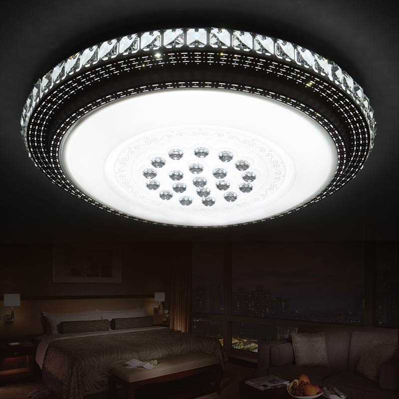 Led Crystal Lamp Modern Bedroom Living Room Ceiling Light With Remote Control Indoor Home Decor Lighting 110-220V modern remote control led lamp ceiling light fixture living room bedroom christmas decoration for home lighting white metal 220v