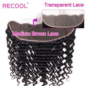Image 1 - Cheveux brésiliens Remy Swiss Lace Frontal Closure Recool