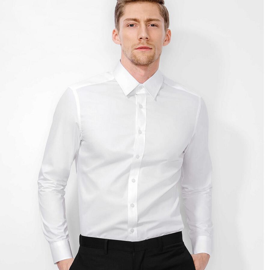 Hot Sale Men Dress Shirt Pure Color Custom Official Business Work