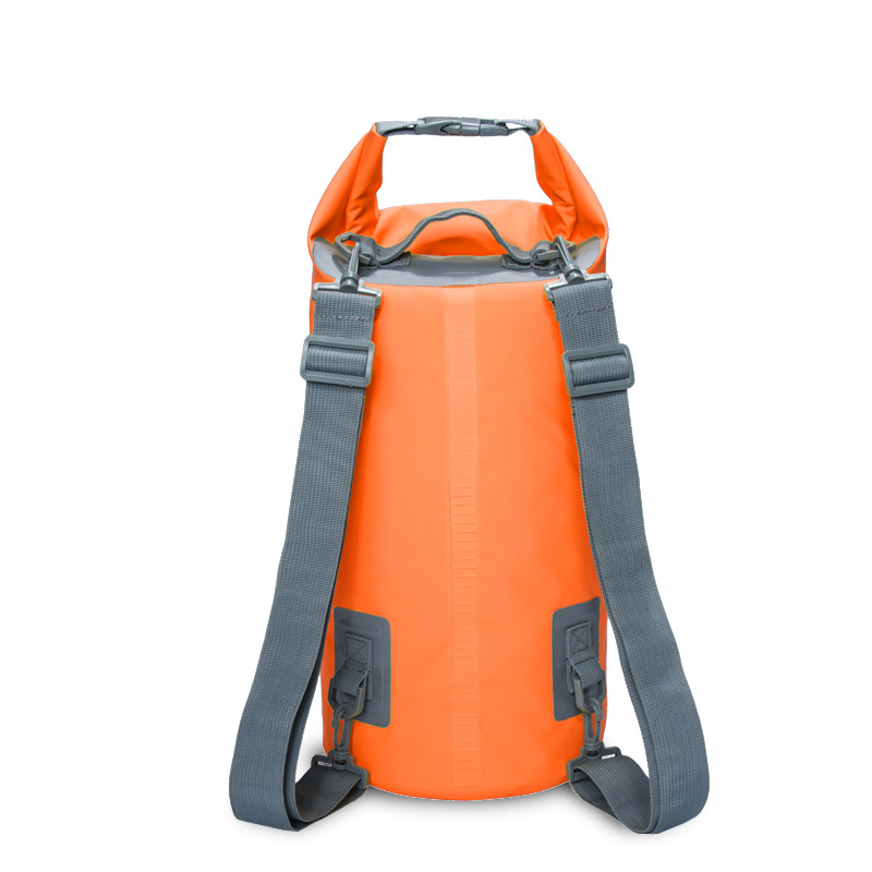 15L 20L Outdoor River Trekking Bag Double Shoulder Strap Swimming Waterproof Bags Backpack Dry Organizers for Drifting Kayaking double shoulders high quality outdoor waterproof bags ultralight camping hiking dry organizers drifting kayaking swimming bags