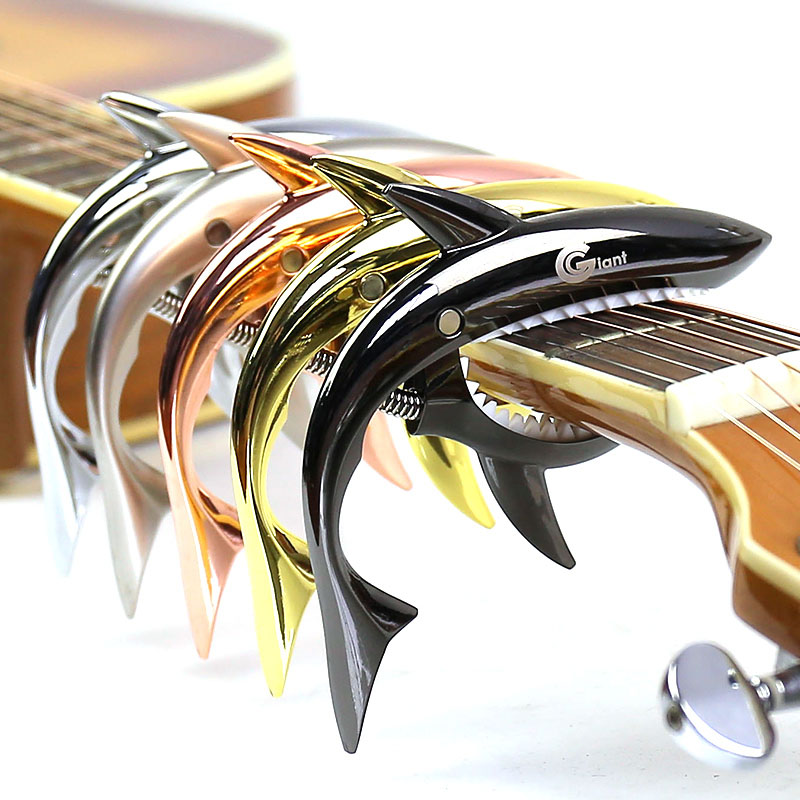 Metal Shark Guitar Capo String Capotraste Violao For Acoustic Electric Guitarra Bass 6 Strings Guitar Parts Guitars Capos