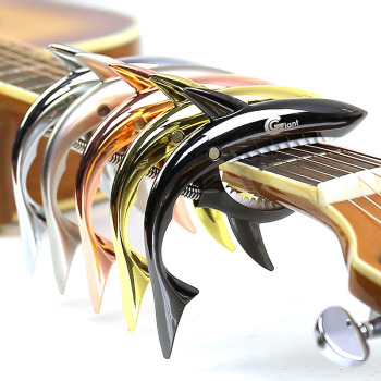 Metal Shark Guitar Capo String Capotraste Violao for Acoustic Electric Guitarra Bass 6 Strings Guitar Parts Guitars Capos silver hardware guitarra 4 strings bass guitar natural wood gloss finish free shipping forestwind oem logo