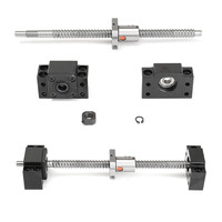 250mm Ball Screw Linear Guide End Support Kit SFU1204 with Ballnut BF/BK10 Machining Stainless Steel Ball Screw Fitting Kit