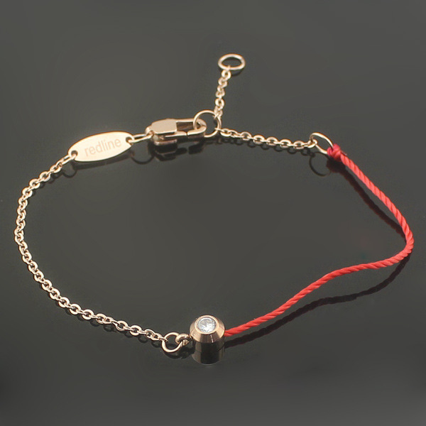 316l Stainless Steel One Stone With Lucky Redline Bracelets For Women S Best Birthday Gifts