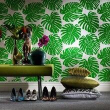 Envío gratis FRESH green banana leaf wallpaper velvet flocado final dormitorio sala de estar sofá de Televisión de fondo 5.3m2