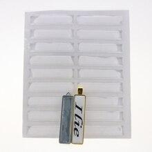 Espaciadores de resina cuadrados muy transparentes para llaveros DIY, 500 Uds., 16X73MM, cúpula de epoxi transparente rectangular, 1,6 MM de grosor