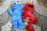 10pcs/lot Sesame street toy Elmo Big Bird Cookie Monster hand puppet 25cm doll Educational plush toy for children XMAS gift