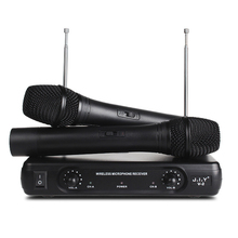 V2 Wireless microphone ktv singing home karaoke computer VHF one for two wireless