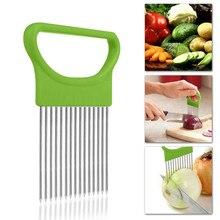 Режущие кухонные инструменты томатный лук овощи слайсер режущий держатель для помощи руководство для нарезки резак безопасная вилка гаджеты овощи