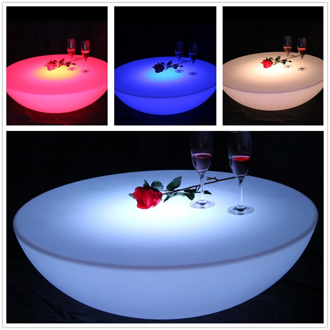 LED Illuminated Furniture Waterproof LED Table LED Coffee Table rechargeable SK-LF17 (D66*H22cm) 1pc furniture hardware hinge folded coffee table mechanism b07