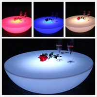 LED Illuminated Furniture Waterproof LED Table LED Coffee Table Rechargeable SK LF17 D66 H22cm 2pcs Lot