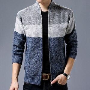 Image 5 - Liseaven 男性カーディガンセーターカジュアルスタイルスタンド襟暖かい Sweatercoat 男性のジャケットコート秋冬カーディガン