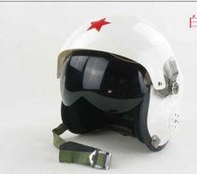 Motorcycle helmet fiberglass GRP army style helmet double Lens flight helmet  Capacete Casco motocicleta