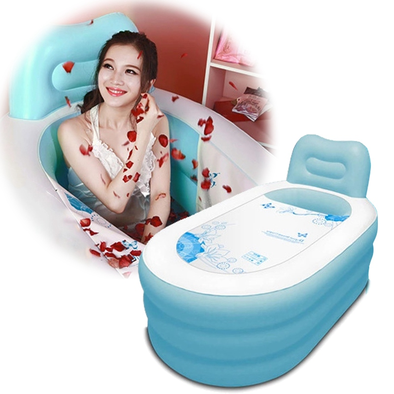 Adult Thicken Folding Bathtub Adults Beauty Bath Tub Large