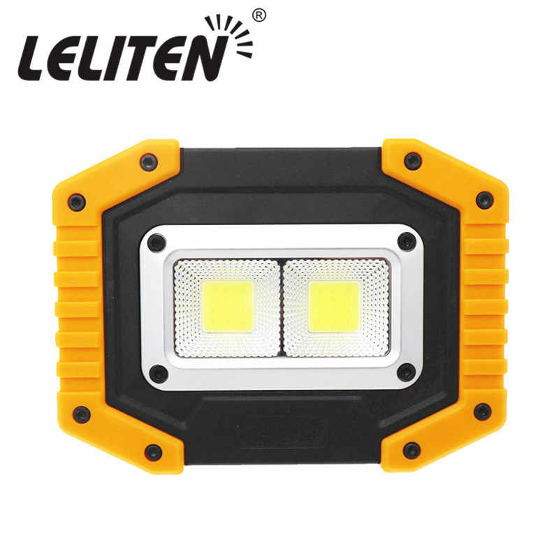 40W Led Portable Spotlight Led Work Light Rechargeable 18650 or AA Battery Outdoor Lamp For Hunting Camping Latern Flashlight