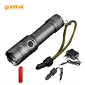 CREE XM-L T6 Led Flashlight 3800Lumens Led Torch Zoomable Waterproof Tactical Flashlight for 3xAAA or 1x18650 Camping Hiking