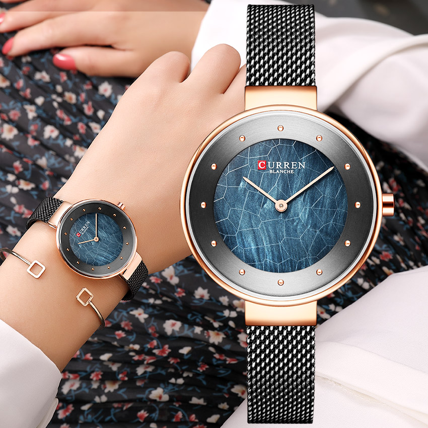 CURREN Minimalist Women's Watches Bayan Kol Saati Fashion Stainless Steel Watch Women Waterproof Women's Wristwatch Ultra Thin(China)