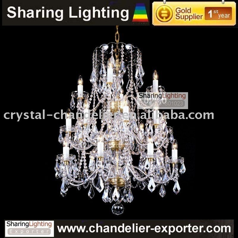 Bohemian Crystal Chandelier Pendant Wrought Iron