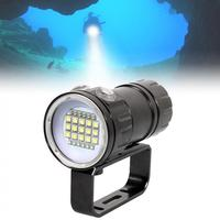 QH27 Fifteen 5050 White XML2 Six XPE Blue R5 Six XPE Red R5 Underwater 80m Scuba Diving Canister Light with 3 Modes Flashlight