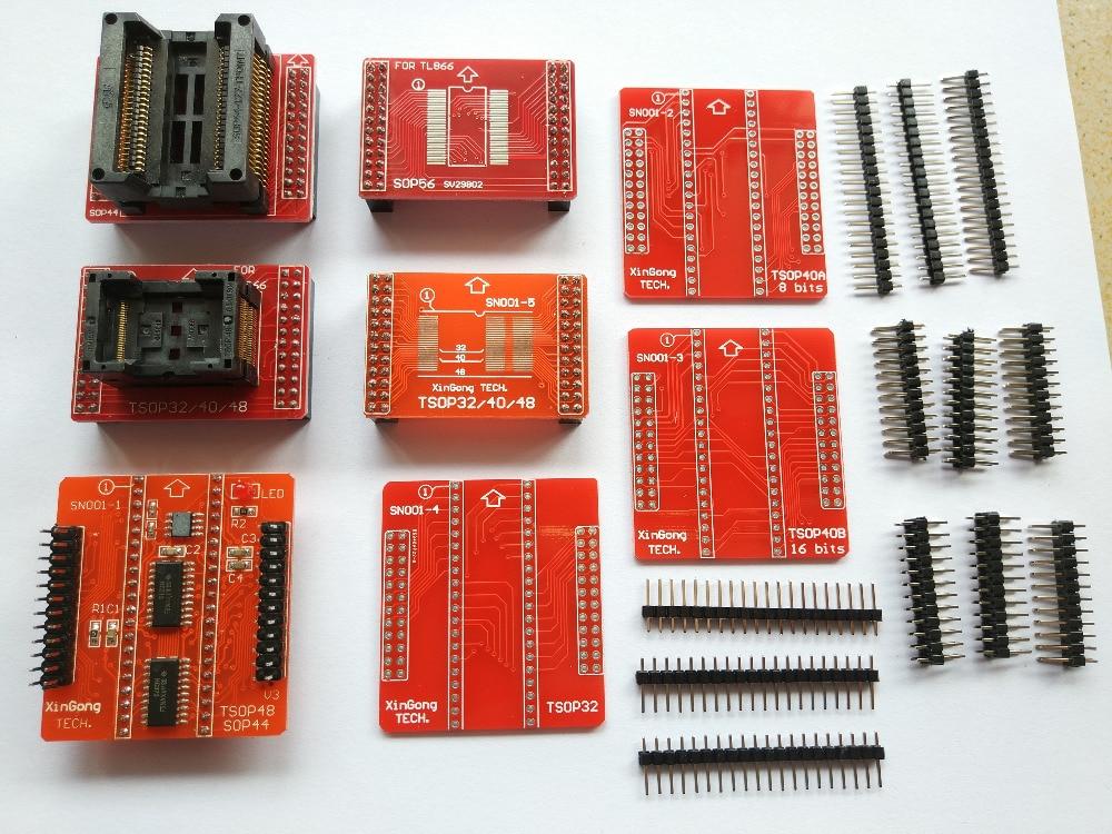 TSOP32/40/48 PSOP44 eeprom 8 адаптеры для tl866ii плюс программист bios 51 MCU usb Flash программист