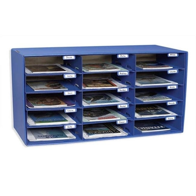 PACON CORPORATION PAC1308 MAIL BOX - 15 MAIL SLOTS BLUE kitpac101188pac103071 value kit pacon tru ray construction paper pac103071 and pacon array card stock pac101188