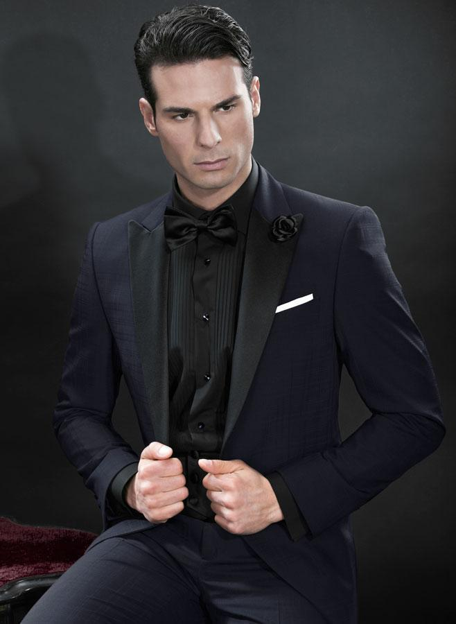Online Shop New Arrival Navy Blue Wedding Suits For Men Black ...