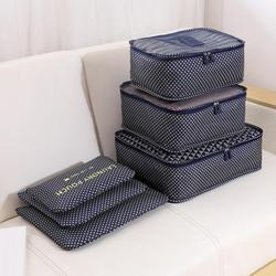 6 Pcs Fashion Bra Underwear Storage Container Travel Clothes Organizer Bag Case