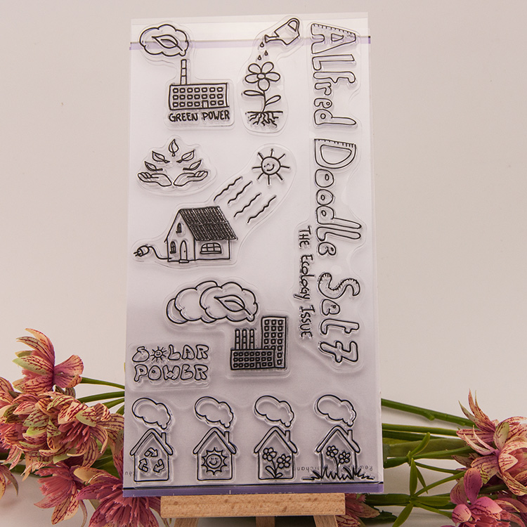 Cartoon house Transparent Clear Silicone Stamp/Seal DIY scrapbooking/photo album Decorative clear stamp sheets handwork gift lovely animals and ballon design transparent clear silicone stamp for diy scrapbooking photo album clear stamp cl 278