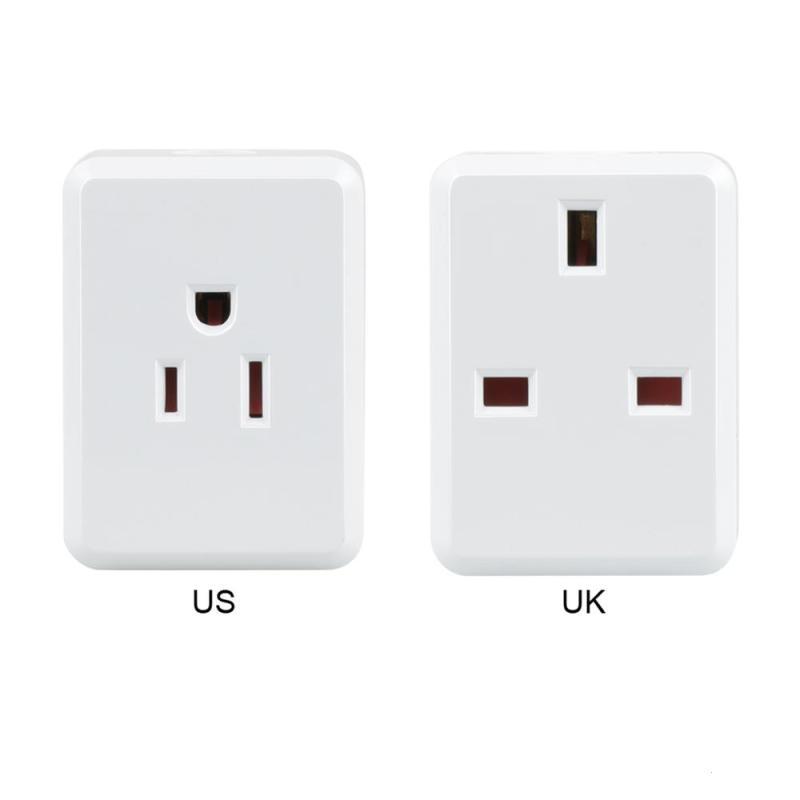 WiFi Smart Socket UK US Power Plug Remote Control Wireless Sockets App Work With Amazon Alexa Google Home IFTTT Timing