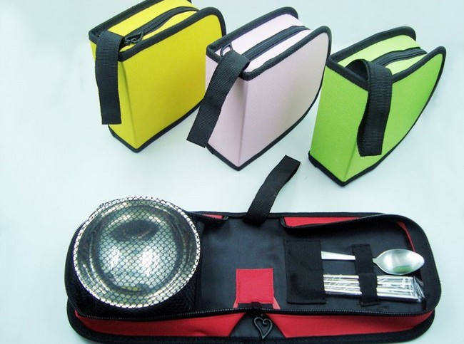 1SET S Steel Outdoor Tableware Portable Single Camping Traveling Flatware Set Bowl Spoon Chopsticks Picnic Cutlery