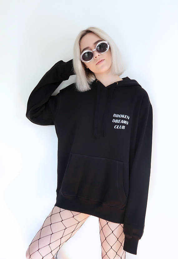 501c1750c53d3 Aesthetic Tumblr Casaul Broken Dreams Club Jumper Graphic Cotton Pullover  Trendy Unisex Spring Clothing Sweatshirt Outfits tops